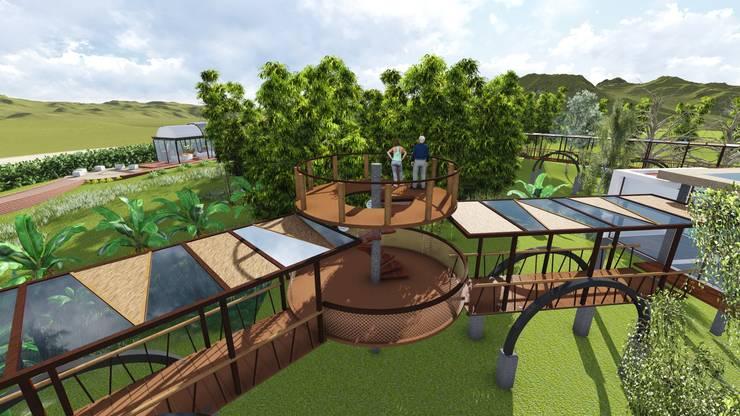 Parque de las orquideas: Jardines de estilo rural por OrCA