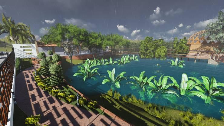 Parque de las orquideas: Jardines de estilo  por OrCA,