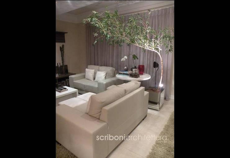 Sala de Estar e Jantar -: Salas de estar  por architettura|Scriboni,