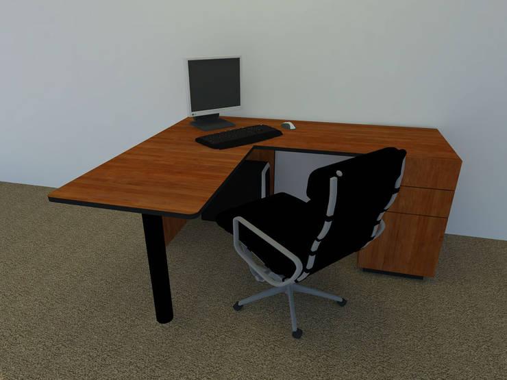 Diseño Escritorio Modular de Oficina.: Estudio de estilo  por Daniel Santamaría