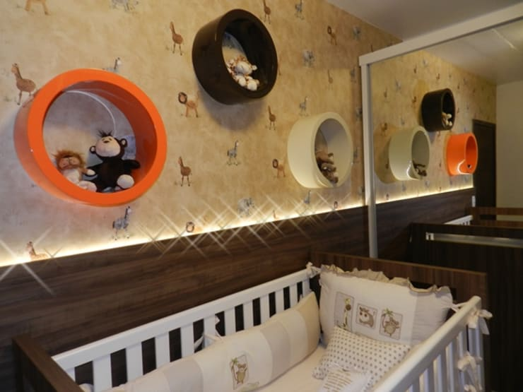Nursery/kid's room by ANE DE CONTO  arq. + interiores,