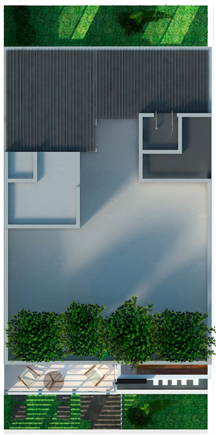 Casa Sur:  de estilo  por Arquitectos I + A