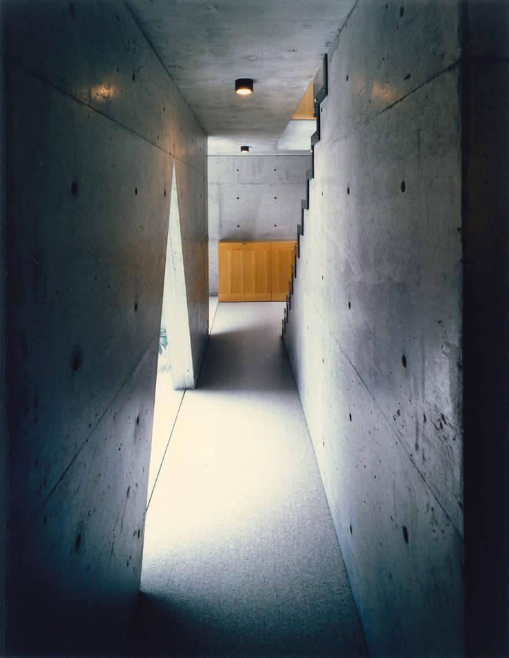 東住吉のコートハウス: 株式会社  小林恒建築研究所が手掛けた廊下 & 玄関です。