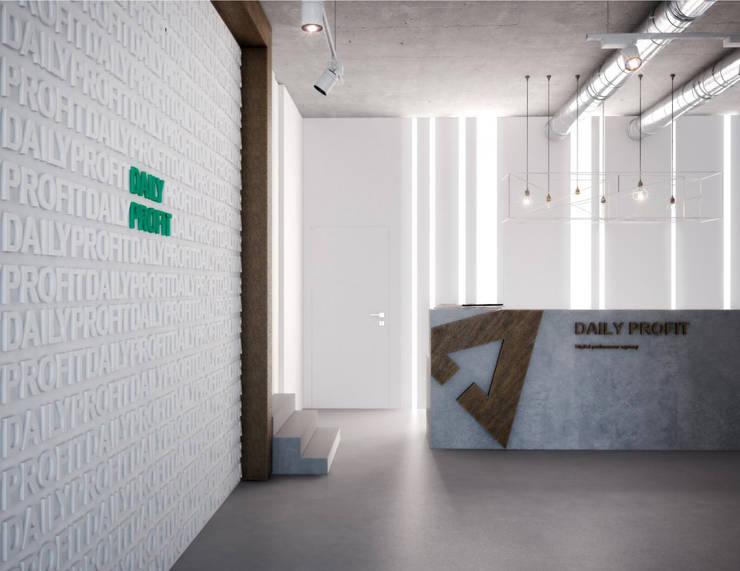 Pasillos, vestíbulos y escaleras de estilo minimalista de ONE STUDIO Minimalista