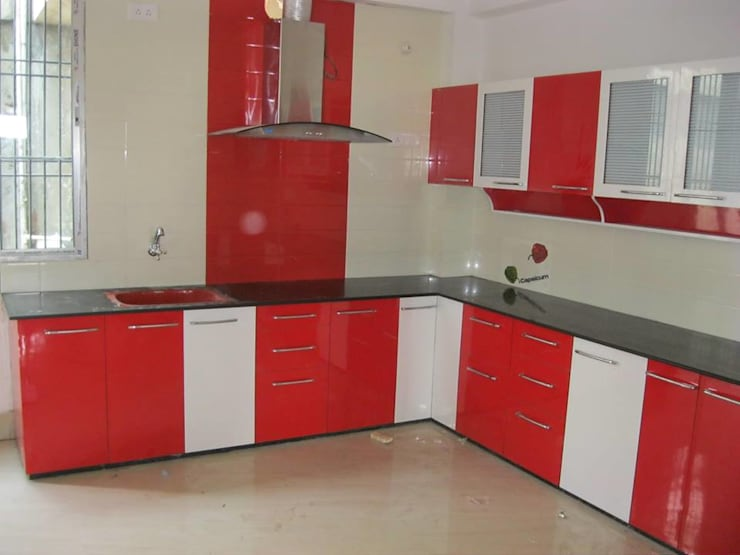 Modular Kitchen:  Kitchen by S.R. Buildtech – The Gharexperts