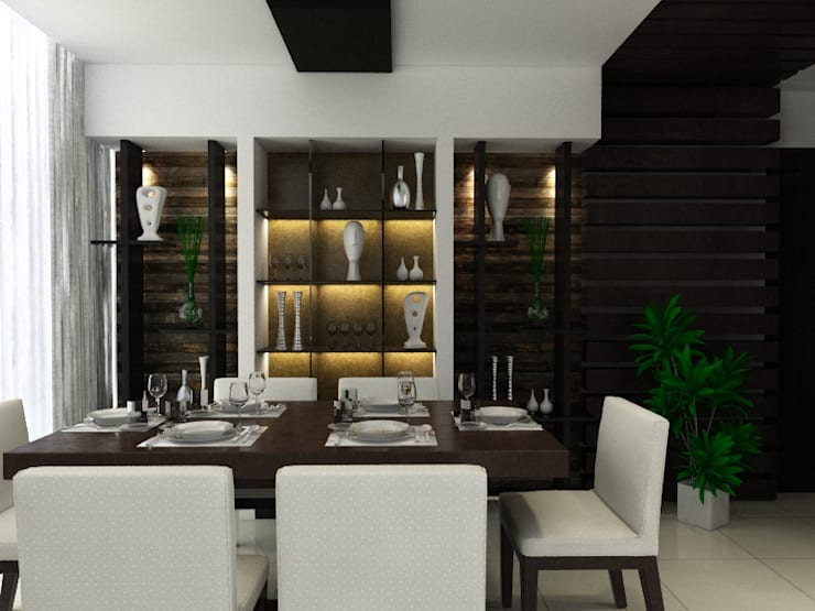 modern Dining room by Space Interface