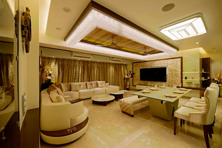 A CLASSIC AND CHIC ELEGANT HOME INTERIOR..................: modern Living room by AIS Designs