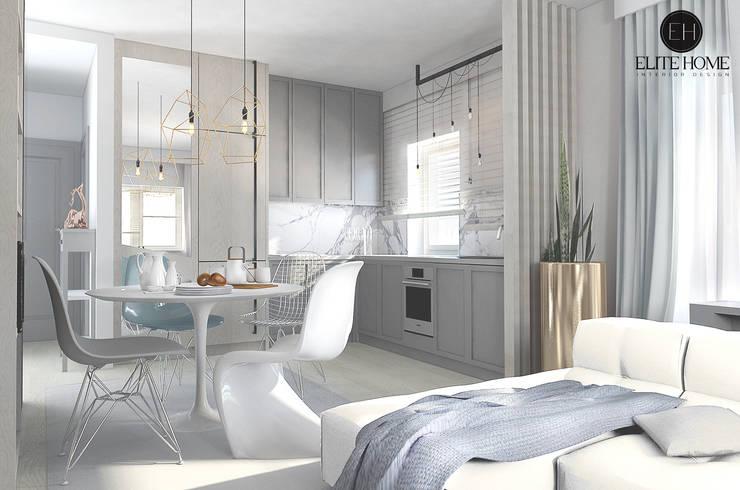 PROJEKT No 2: styl , w kategorii Salon zaprojektowany przez ELITE HOME