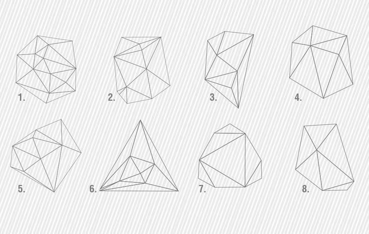 Mid Century Modern Style - Geometric Outlines Decals   8 MODELS AVAILABLE - CHOOSE YOUR FAVOURITE(S)!: Escritórios e Espaços de trabalho  por MOONWALLSTICKERS.COM