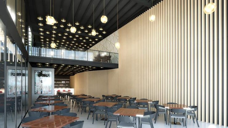 Restaurante Japão: Espaços de restauração  por DRCF Arquitectos