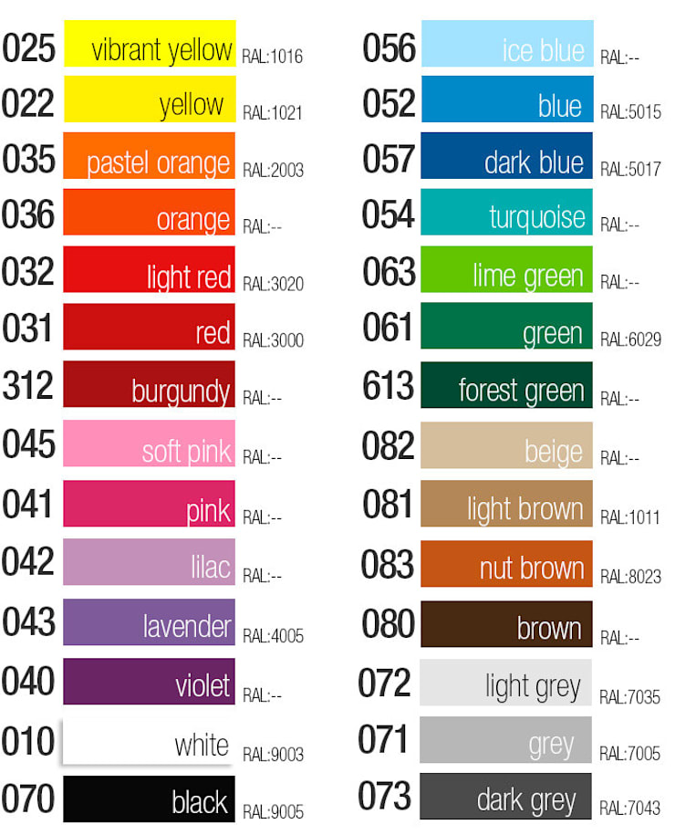 Mid Century Modern Style - Geometric Outlines Decals   Color Chart: Escritórios e Espaços de trabalho  por MOONWALLSTICKERS.COM