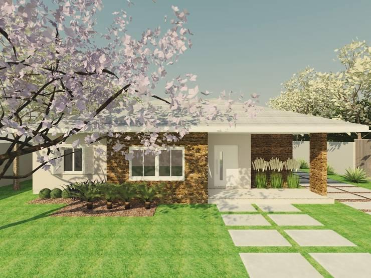 Projeto Residencial_MJ: Casas rústicas por Cíntia Schirmer | Estúdio de Arquitetura e Urbanismo