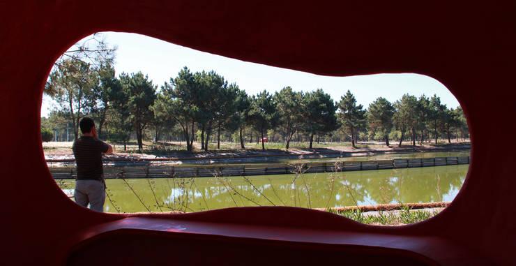 PARQUE AMBIENTAL DO BUÇAQUINHO: Jardins  por Oh!land studio, lda