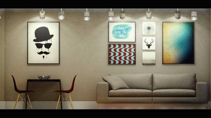 Sala de Estar e Jantar: Salas de estar  por fpr Studio,Industrial
