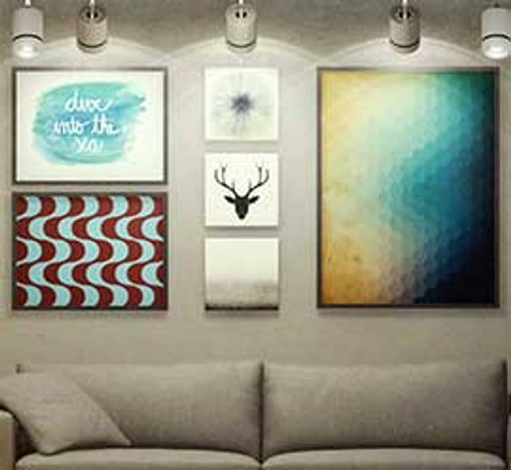Detalhe Sala de Estar: Salas de estar  por fpr Studio,Industrial
