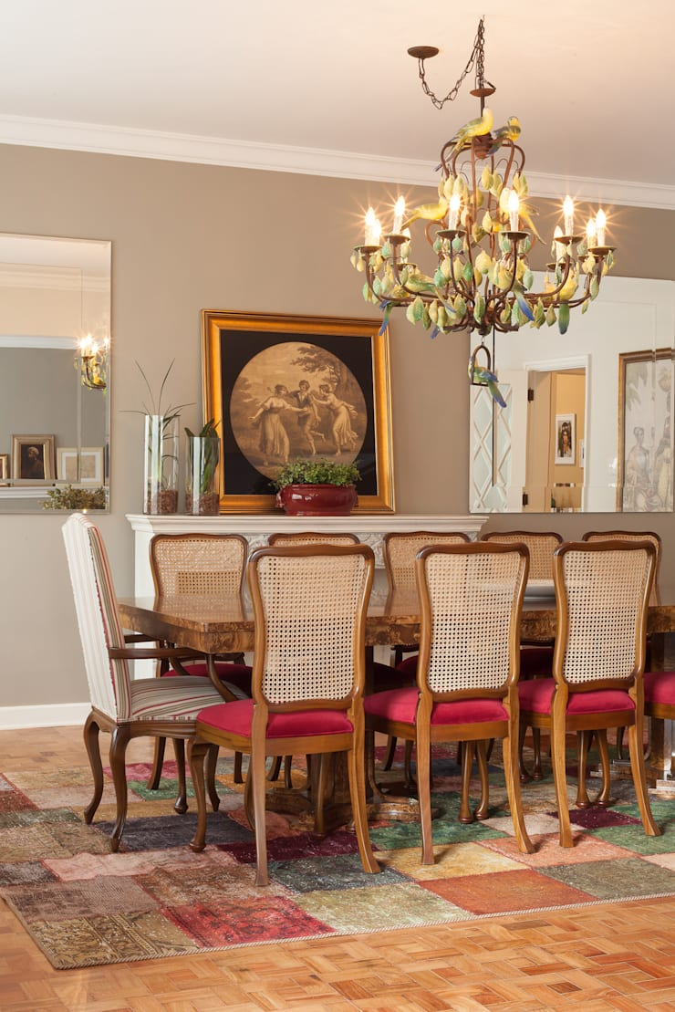 Apartamento Higienópolis: Sala de jantar  por Marcia Pellegrini Designer + Interiores