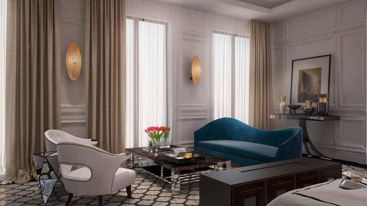 Mert Duyal - NuN Design – PRIVATE ALMATY VILLA:  tarz Yatak Odası