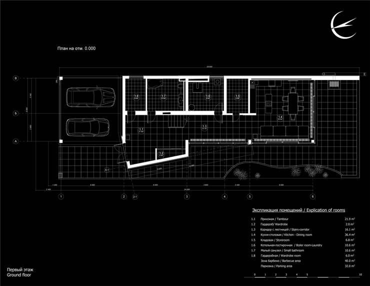 План первого этажа:  в . Автор – CHM architect
