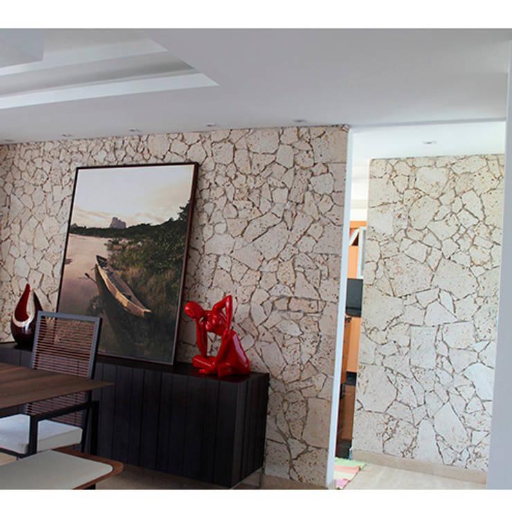 Casa El Hatillo II: Paredes de estilo  por Arquitecto Juan Pablo Fernandes