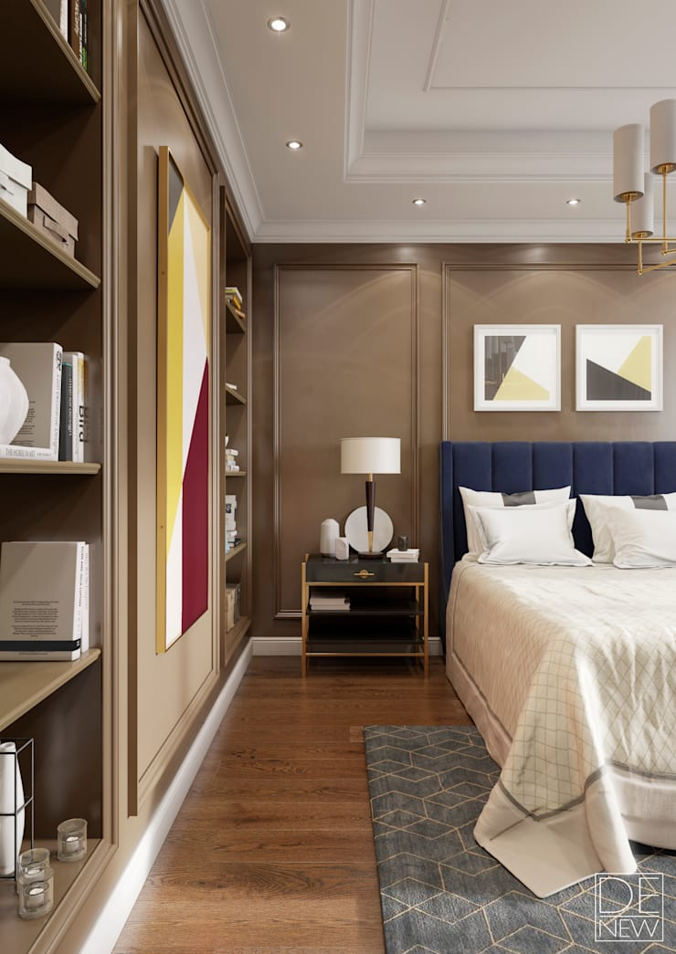 Интерьеры спален в кофейных тонах : Спальни в . Автор – DEnew