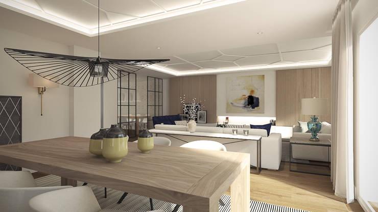 Ruang Makan oleh Disak Studio , Modern Kayu Wood effect