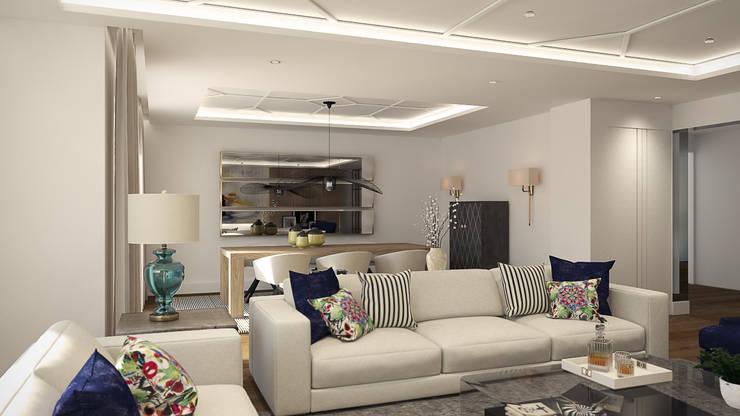 Ruang Keluarga oleh Disak Studio , Modern Kayu Wood effect