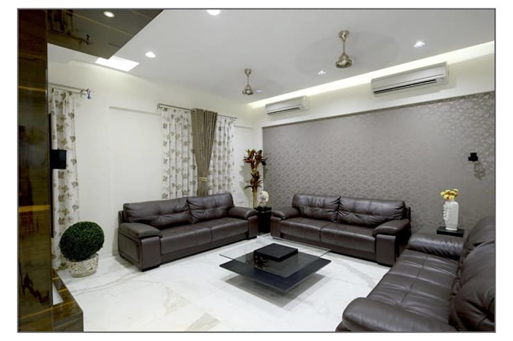 Bungalow project: modern Living room by CK Interiors Pvt Ltd