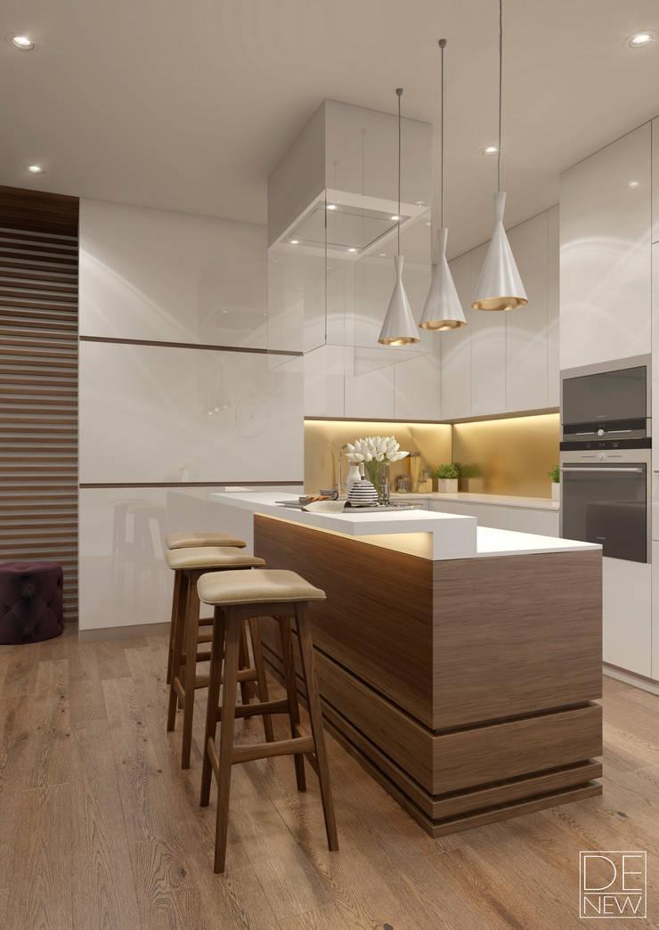 Яркие акценты в уютной киевской квартире: Кухни в . Автор – DEnew,