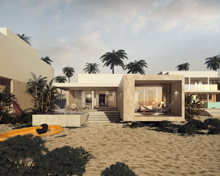 Villas Santa Clara: Casas de estilo  por TNGNT arquitectos