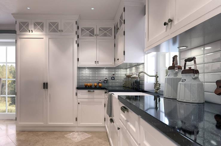 Cucina in stile in stile Classico di EVGENY BELYAEV DESIGN
