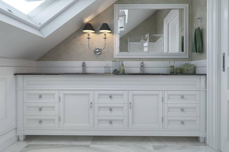 Salle de bains de style  par EVGENY BELYAEV DESIGN
