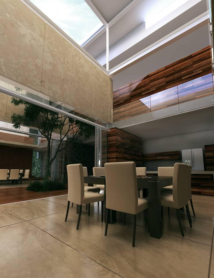 Casa HH: Comedores de estilo  por TNGNT arquitectos