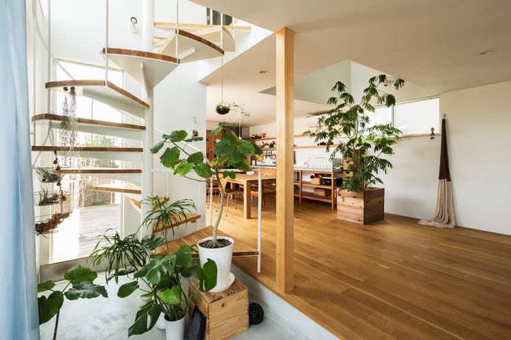 Pasillos y recibidores de estilo  por 藤森大作建築設計事務所