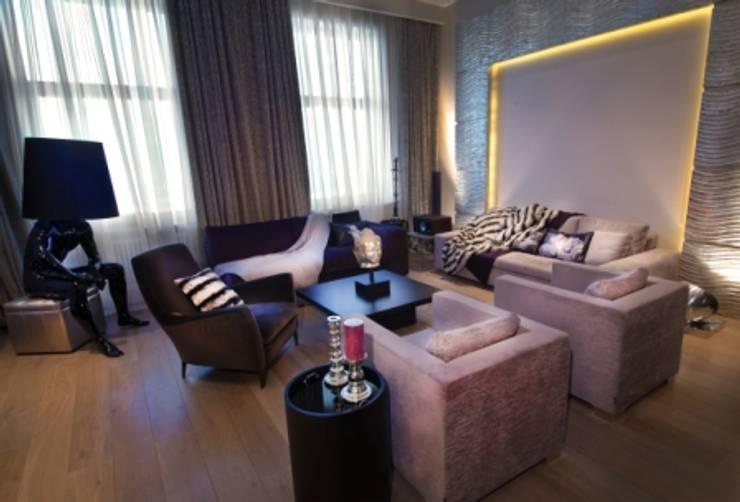 Квартира на Староильинской: Гостиная в . Автор – Дизайн-студия «ARTof3L»