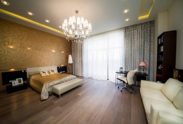 Квартира на Староильинской: Спальни в . Автор – Дизайн-студия «ARTof3L»,