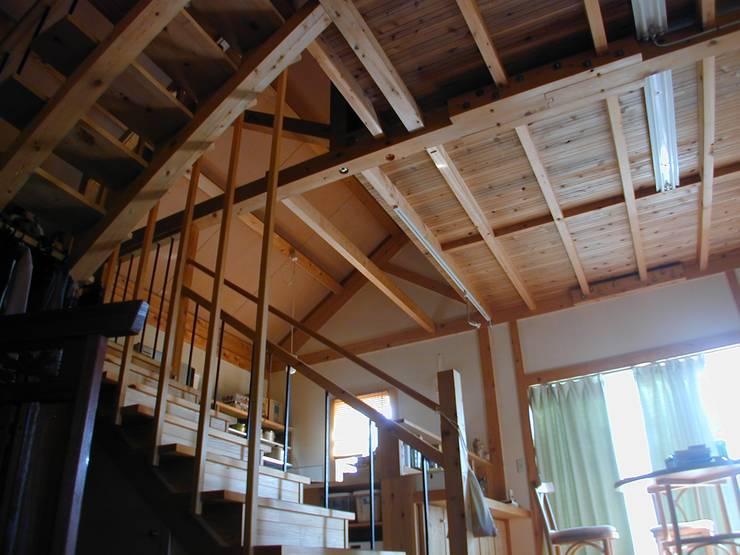 対束トラスの平屋住宅: 木造トラス研究所・株式会社 合掌が手掛けた家です。