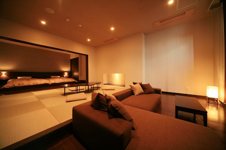 3、4F客室: 株式会社井上輝美建築事務所+都市開発研究所  aim.design studioが手掛けたホテルです。