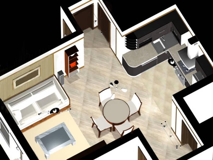 Планировочные решения для малогабаритных квартир. Проект 2.:  в . Автор – ООО 'Бастет'