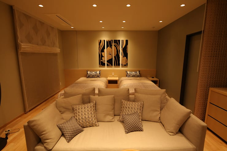 Gest Room: 株式会社Juju INTERIOR DESIGNSが手掛けた寝室です。