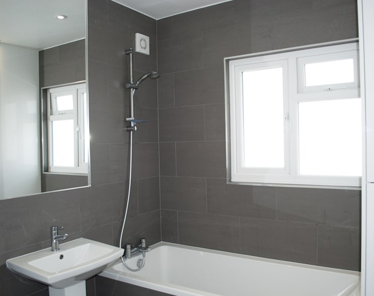 THE HANWELL CONVERSION: modern Bathroom by The Market Design & Build