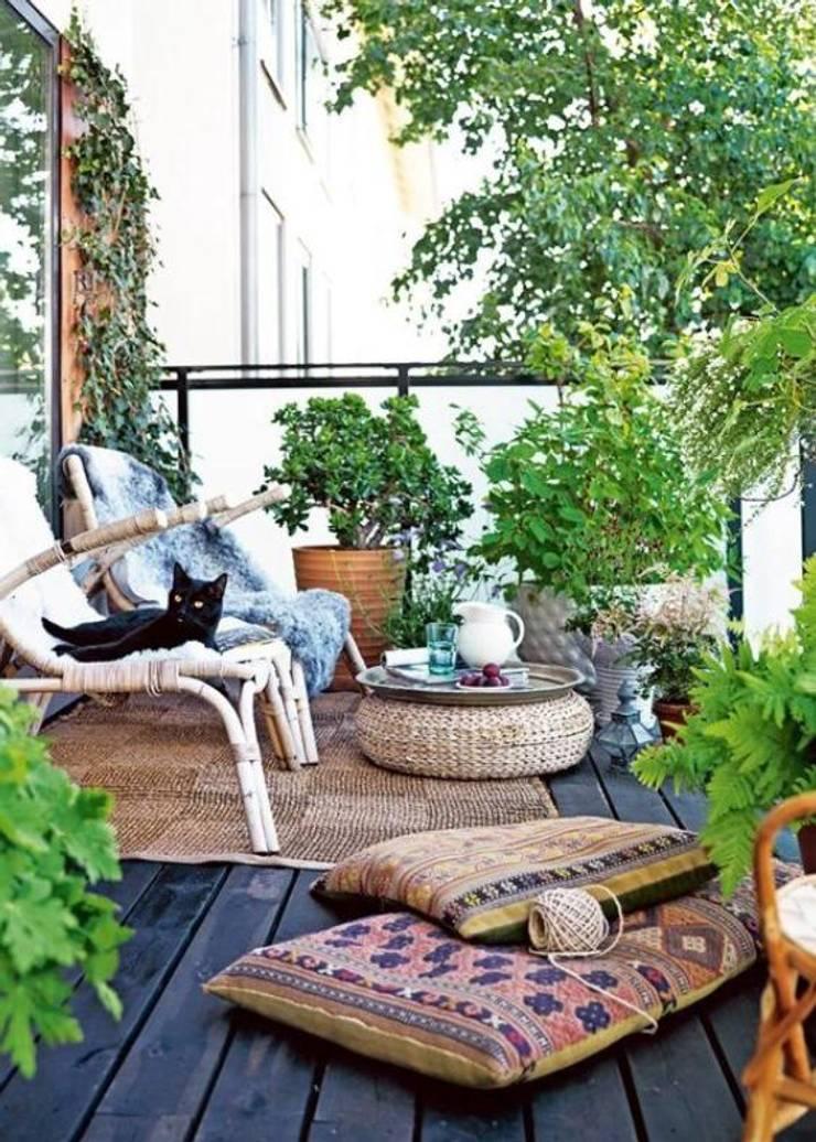 Diseño de proyectos y espacios: Terrazas de estilo  por Eurekaa