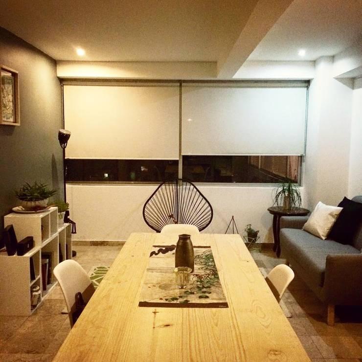Diseño de proyectos y espacios: Comedores de estilo  por Eurekaa