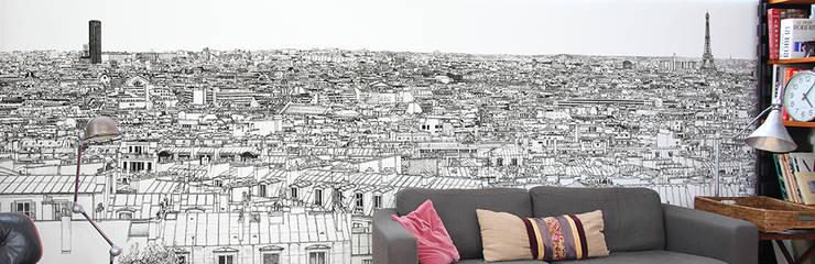 http://www.ohmywall.com/product/Papier-peint-Vue-de-Paris-Montparnasse%20Tour%20Eiffel-Big-Panoramique-Thomas-Lable-alias-Materz: Murs & Sols de style de style Moderne par Ohmywall