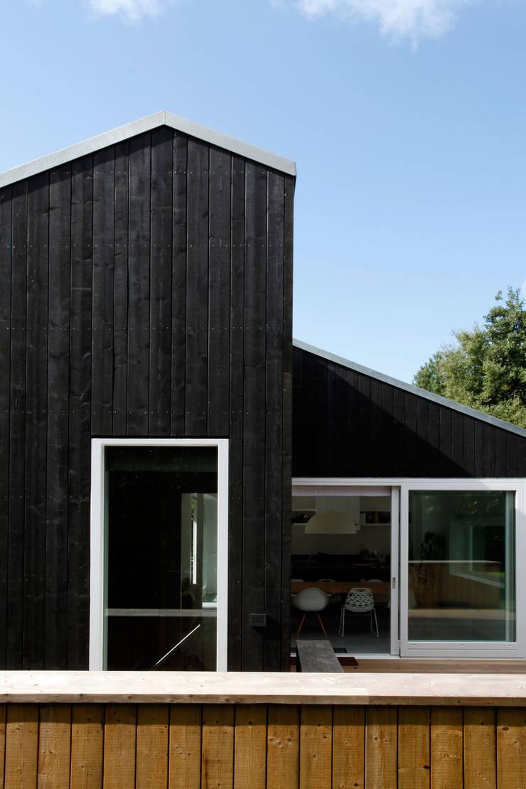 Vakantiewoning Cornelisse, Schiermonnikoog:  Huizen door De Zwarte Hond, Scandinavisch Hout Hout