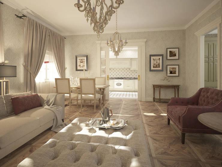 Проект квартиры: Гостиная в . Автор – Лилия Панкова, Классический