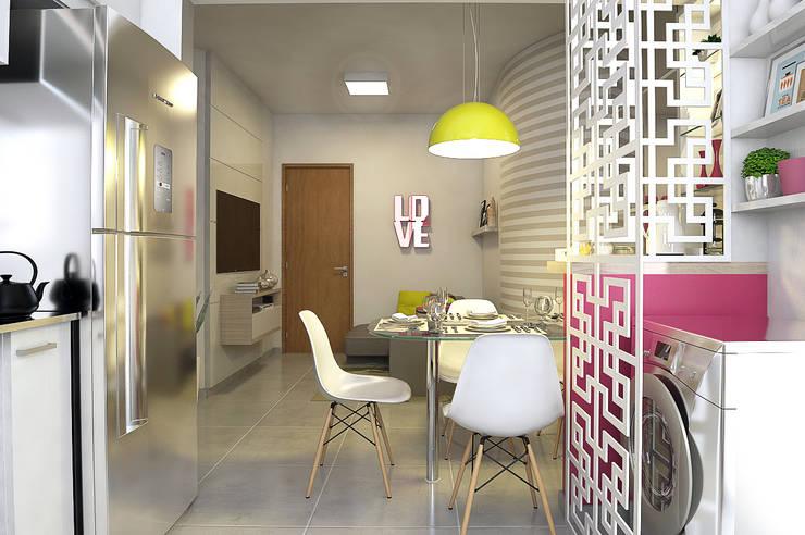 Apartamento Regiane e Bráulio: Salas de estar modernas por Anelisy Lima Arquitetura e Design