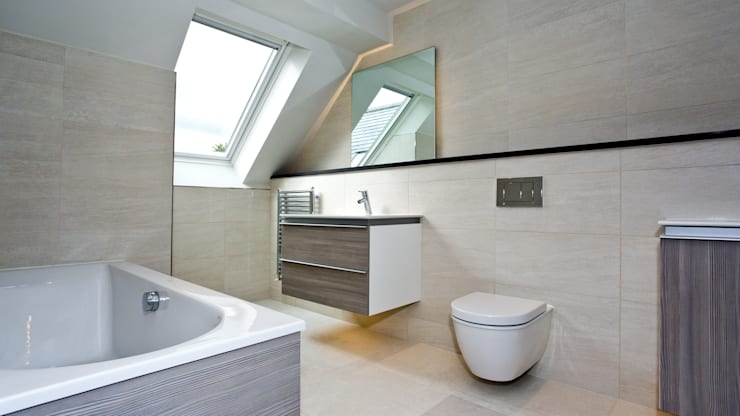 Residential Development, West Yorkshire:  Bathroom by Wildblood Macdonald