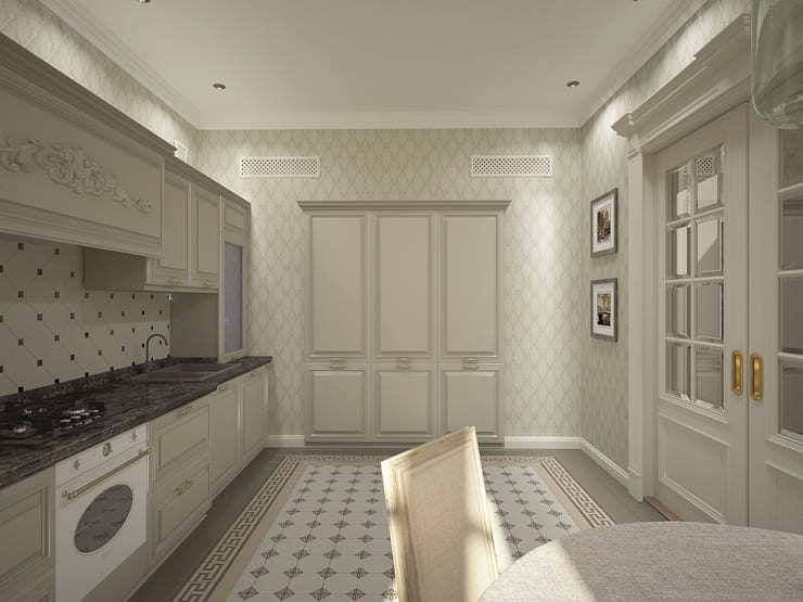 Проект квартиры: Кухни в . Автор – Лилия Панкова, Классический