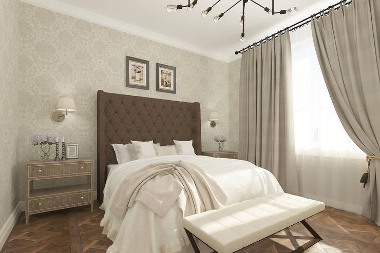 Проект квартиры: Спальни в . Автор – Лилия Панкова, Классический