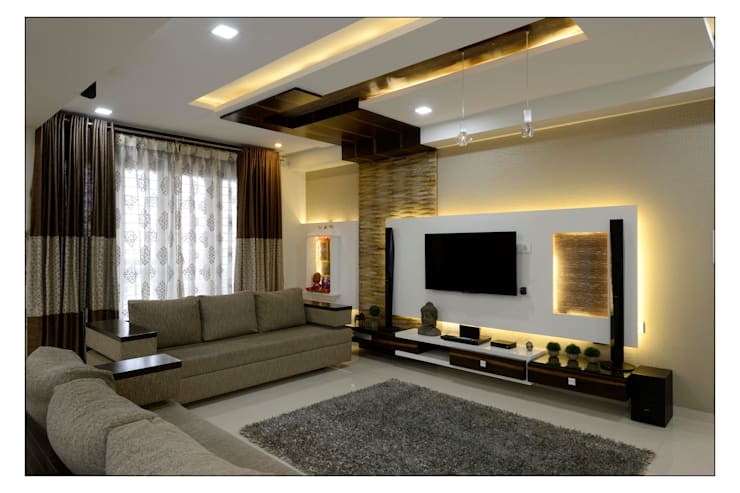 interiors: modern Living room by Spacemekk Designers p.LTD